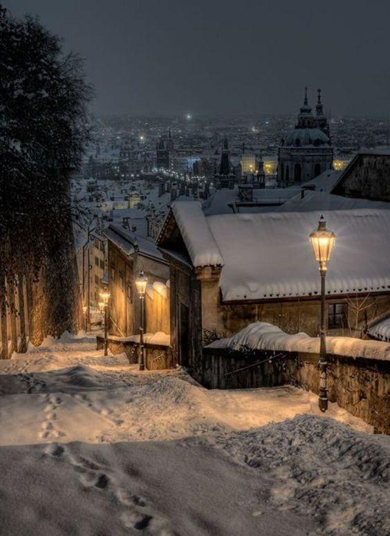 Prága télen