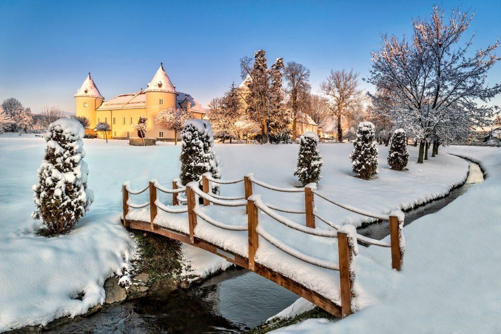 Rače kastély, télen